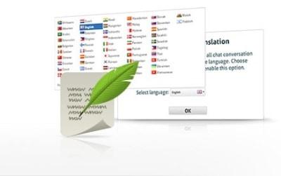 interaktywny tłumacz na czacie