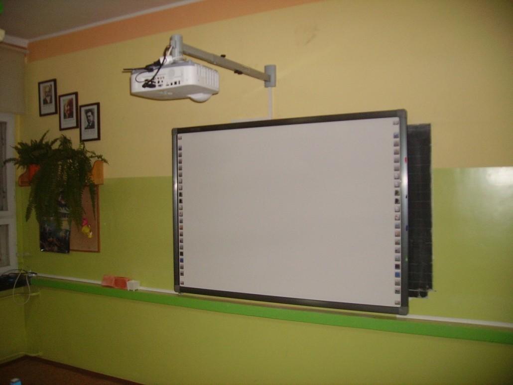 zestaw interaktywny tablica z projektorem