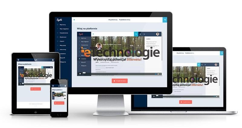 platforma e-learningowa widok na urządzeniach mobilnych