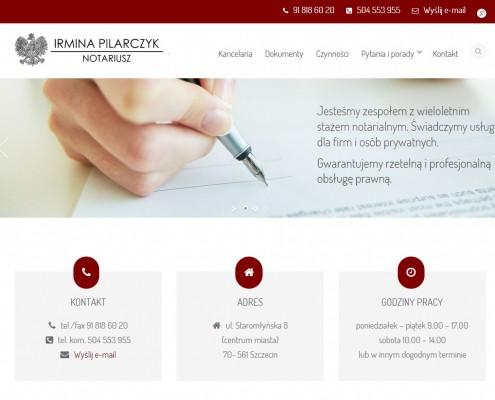 Strona dla kancelarii notarialnej
