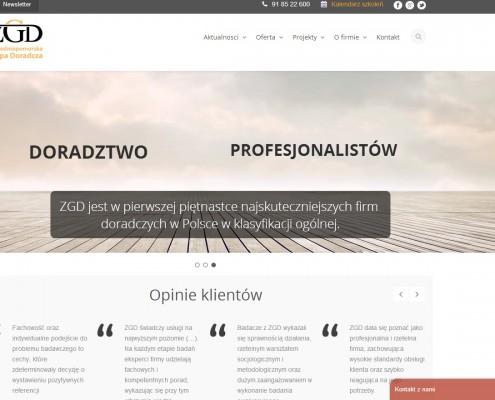 strona internetowa dla zachodniopomorskiej grupy doradczej