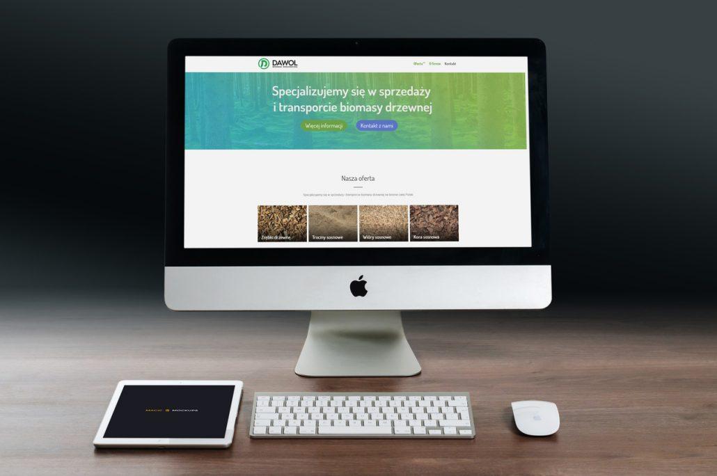 Strona internetowa dla firmy Dawol.