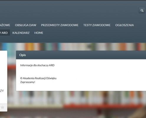 ard-informacje-495x400 Akademia Realizacji Dźwięku w Warszawie
