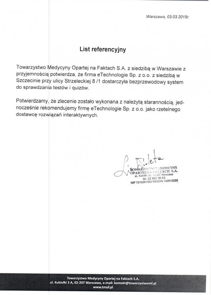 Towarzystwo Medycyny Opartej na Faktach S.A.