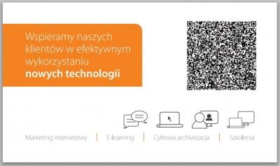 wizytowka-z-kodem-qr-400x237 Jak wykorzystać kody QR w działaniach marketingowych?
