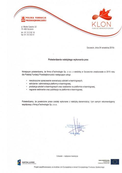 FM Klon list referencyjny