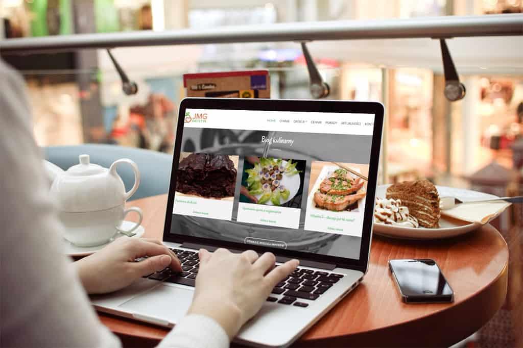 Strona internetowa firmy JMG- Dietetyk wykonana dla pani Joanny Głuszyk