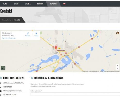 strona www dla firmy transportwej