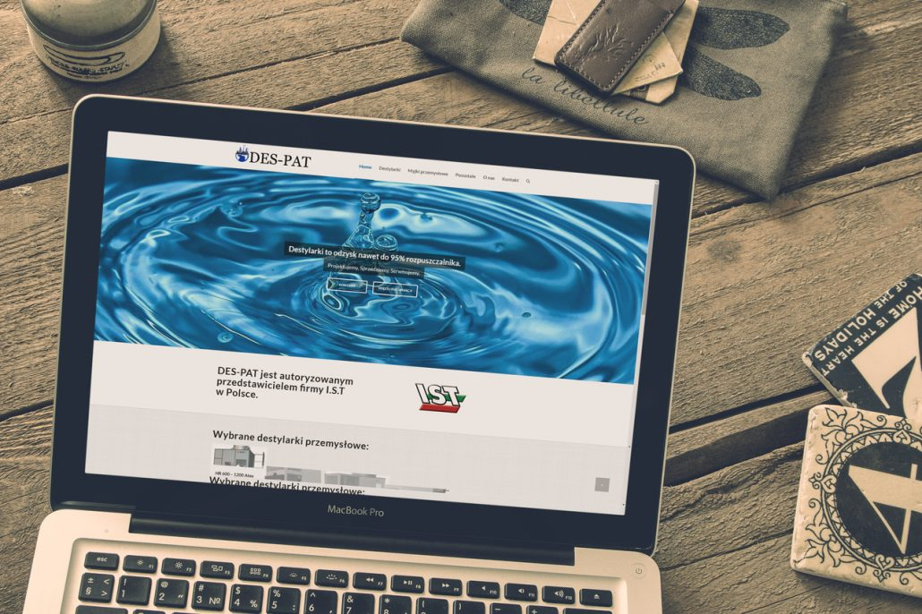 Strona internetowa dla DES PAT destylarki, myjki ciśnieniowe.