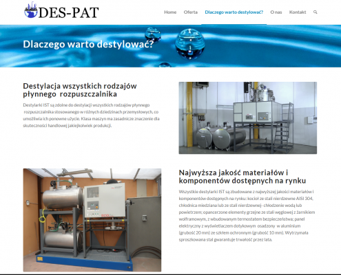 des3-495x400 DES-PAT Urządzenia do destylacji i myjki przemysłowe