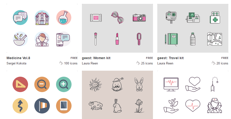 ikony 38 bezpłatnych  aplikacji i zasobów przeznaczonych do tworzenia szkoleń e-learningowych i stron internetowych