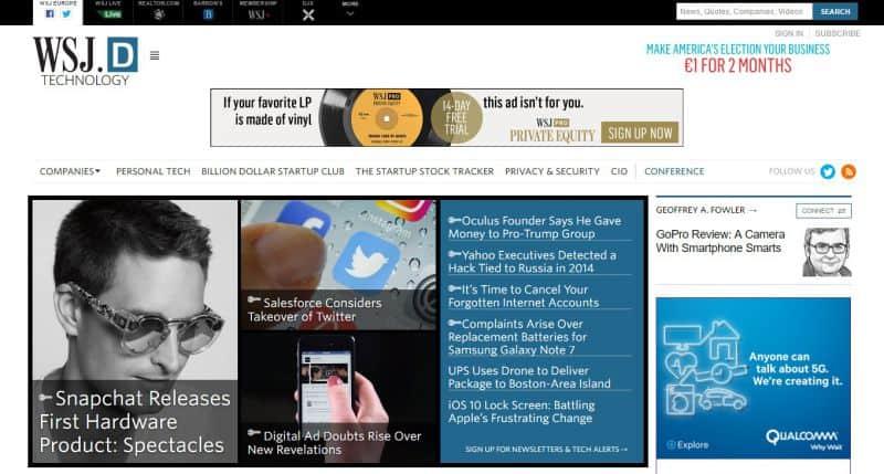 Wall-Street-Journal 35 znanych marek, które posiadają strony internetowe na WordPressie