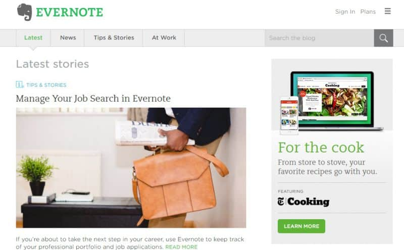 evernote 35 znanych marek, które posiadają strony internetowe na WordPressie