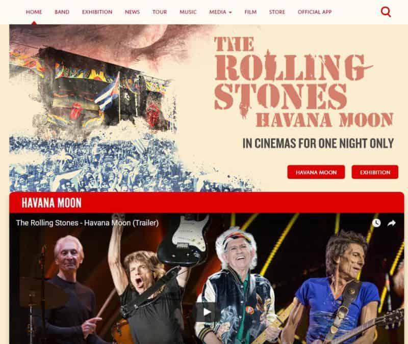 rollings-stones 35 znanych marek, które posiadają strony internetowe na WordPressie