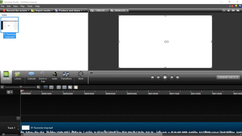 Interfejs Camtasia 8