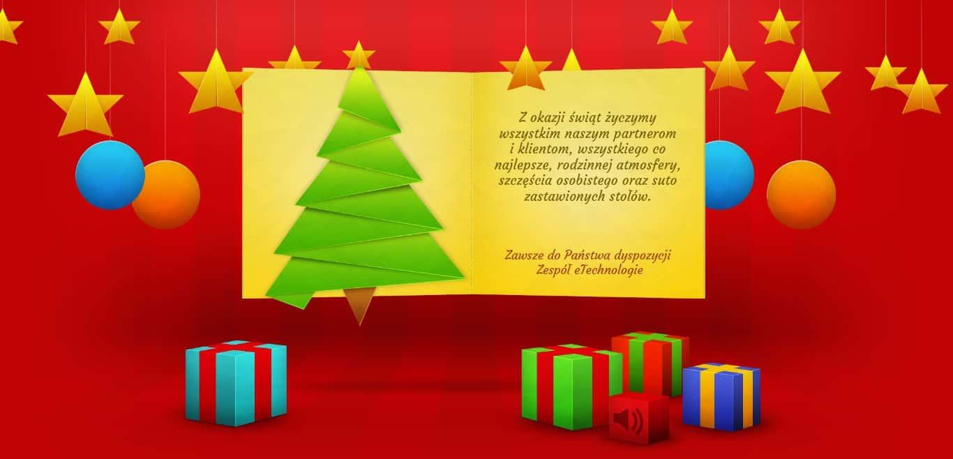 Na zdjęciu widoczny jest obraz z interaktywnej kartki świątecznej od eTechnologie