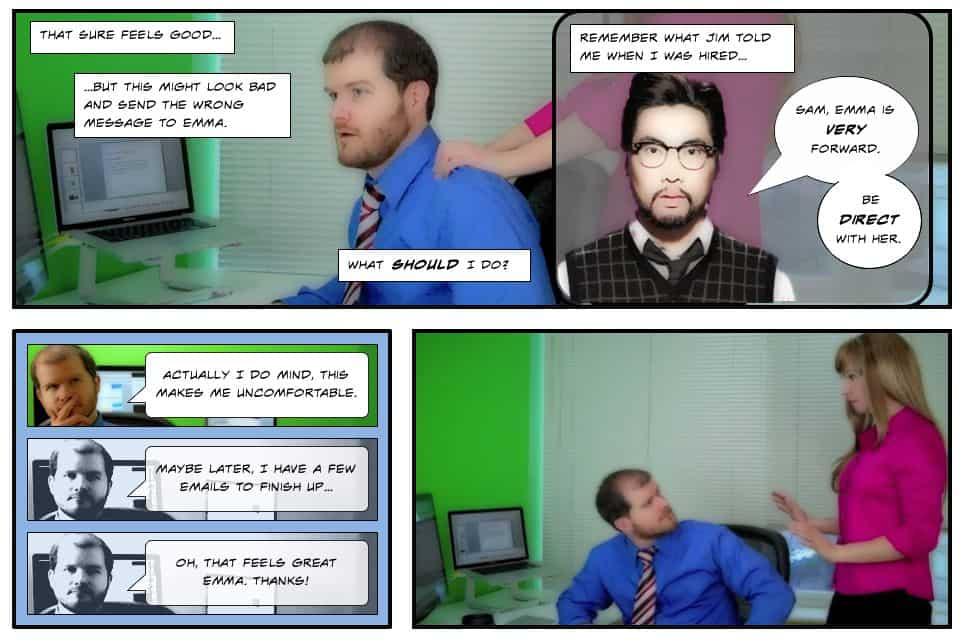 brocken-co-worker-1 Dlaczego interaktywne materiały wideo bardziej angażują uczestników szkolenia?