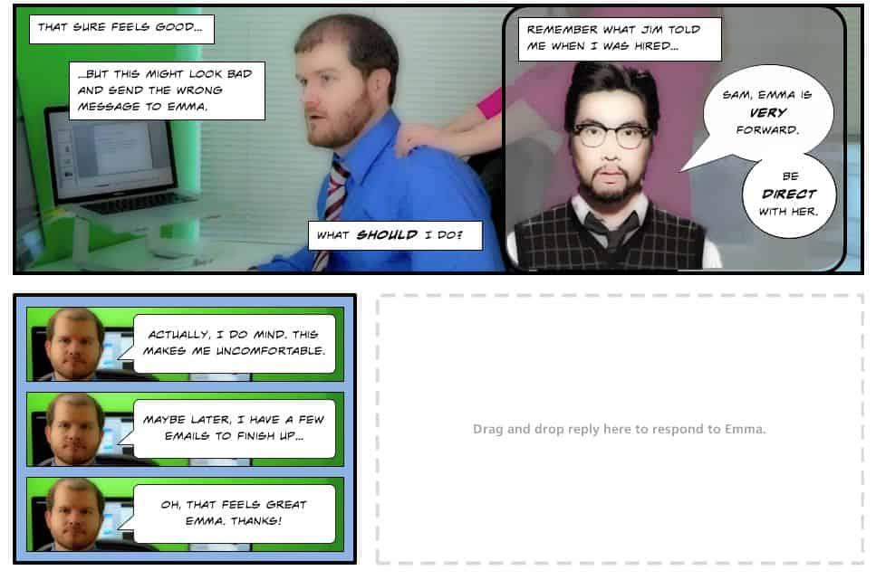 brocken-co-worker Dlaczego interaktywne materiały wideo bardziej angażują uczestników szkolenia?