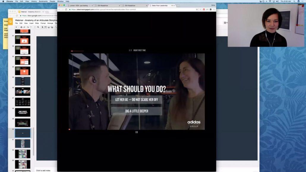 interaktywne-wideo-addidas-1030x579 Dlaczego interaktywne materiały wideo bardziej angażują uczestników szkolenia?
