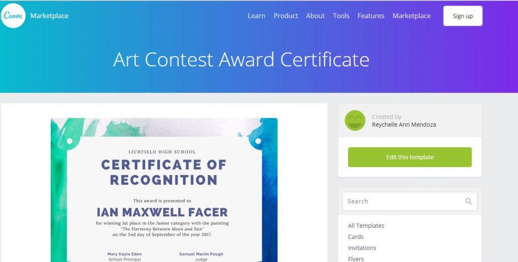 canva-certyfikaty-1030x521 Jak samodzielne przygotować certyfikaty lub zaświadczenia potwierdzające ukończenia szkolenia?
