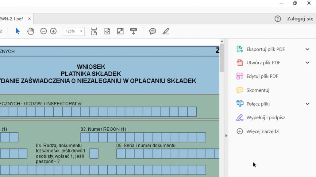 funkcja komentowania plików pdf