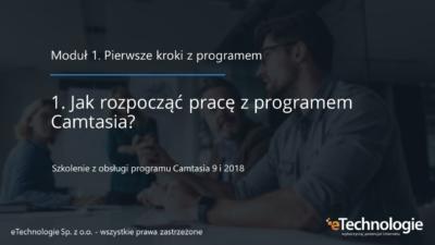 Okładka szkolenia wideo programu Camtasia