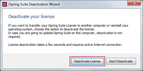 deaktywacja licencji iSpring Suite