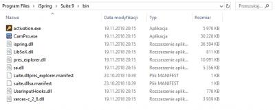 Folder z plikiem do deaktywacji