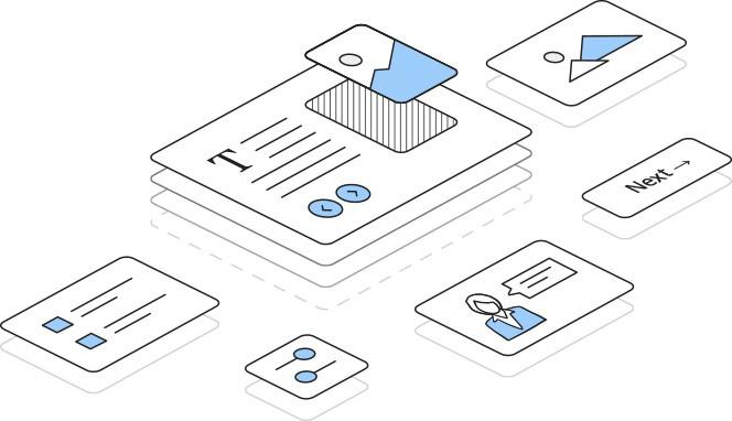 elementy iSpring Content Library. Biblioteka gotowych zasobów do tworzenia szkoleń e-learningowych
