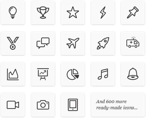ikony iSpring Content Library. Biblioteka gotowych zasobów do tworzenia szkoleń e-learningowych