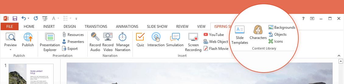 ispring-content-library iSpring Content Library. Biblioteka gotowych zasobów do tworzenia szkoleń e-learningowych
