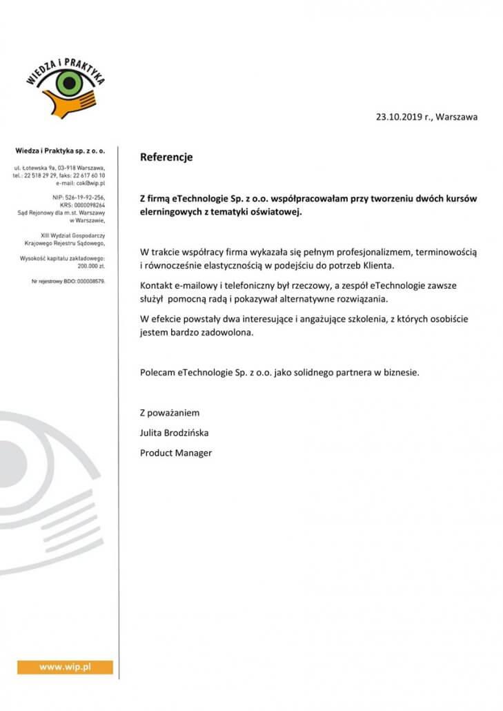 Wiedza i Praktyka Sp. z o.o.