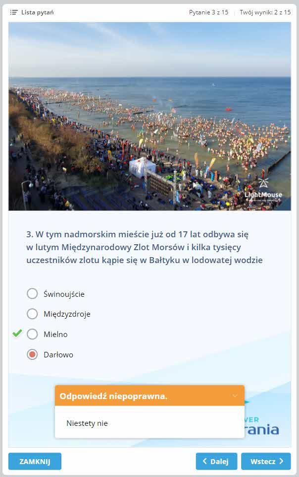 """przeglad-pytan Interaktywny quiz promujący atrakcje Pomorza Zachodniego """"Discover Pomerania"""""""